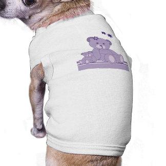 Purple Awareness Bears Doggie T Shirt
