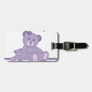 Purple Awareness Bears Tags For Bags