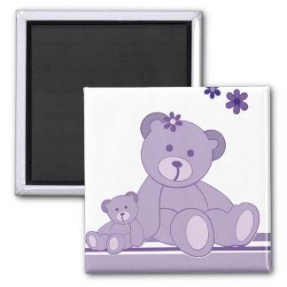 Purple Awareness Bears Fridge Magnets