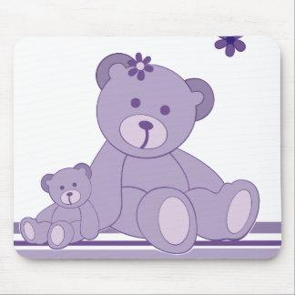 Purple Awareness Bears Mousepads