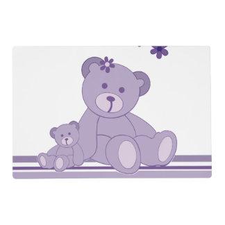 Purple Awareness Bears Placemat