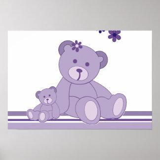Purple Awareness Bears Posters
