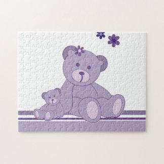 Purple Awareness Bears Jigsaw Puzzles