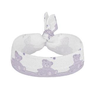 Purple Awareness Bears Elastic Hair Ties