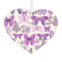 Purple Awareness Butterflies Air Freshener