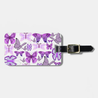 Purple Awareness Butterflies Bag Tag