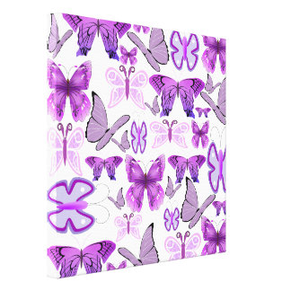 Purple Awareness Butterflies Canvas Print