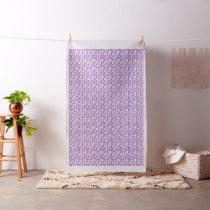 Purple Awareness Butterflies Fabric