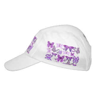 Purple Awareness Butterflies Headsweats Hat