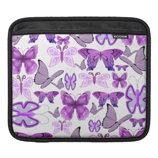 Purple Awareness Butterflies iPad Sleeve