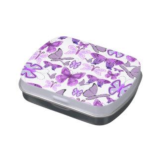 Purple Awareness Butterflies Jelly Belly Candy Tins