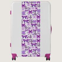 Purple Awareness Butterflies Luggage