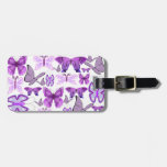 Purple Awareness Butterflies Luggage Tags