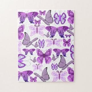 Purple Awareness Butterflies Jigsaw Puzzle