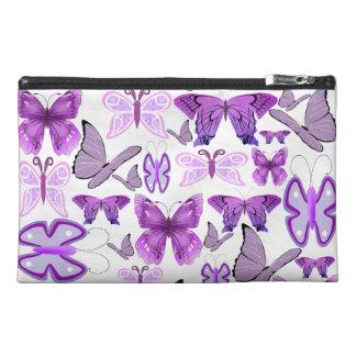 Purple Awareness Butterflies Travel Accessory Bag