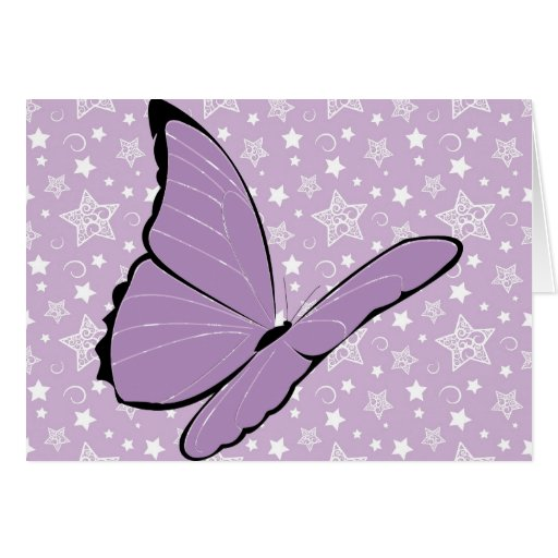 Purple Awareness Butterfly Greeting Card