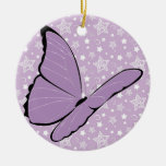 Purple Awareness Butterfly Christmas Tree Ornaments