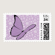 Purple Awareness Butterfly Postage