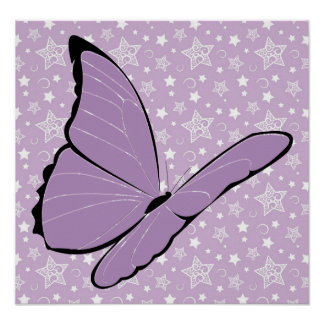 Purple Awareness Butterfly Poster