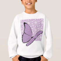 Purple Awareness Butterfly Sweatshirt