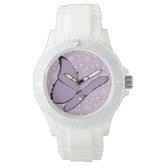 Purple Awareness Butterfly Watch