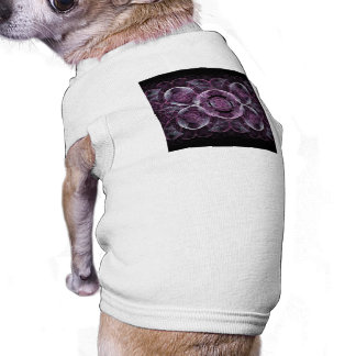 Purple Awareness Fractal Abstract Dog Clothes