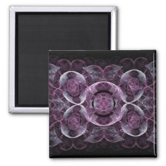 Purple Awareness Fractal Abstract Fridge Magnet