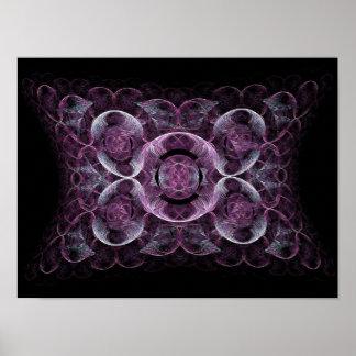 Purple Awareness Fractal Abstract Print