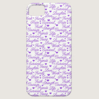 Purple Awareness iPhone 5 Case