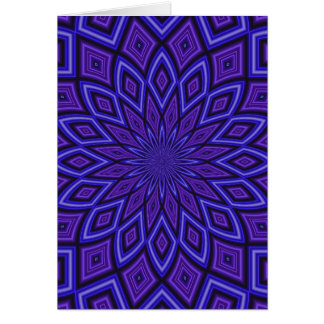 Purple Awareness kaleidoscope Card