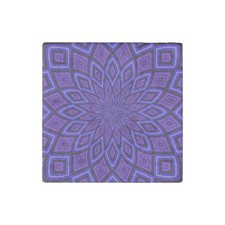 Purple Awareness Kaleidoscope Stone Magnet