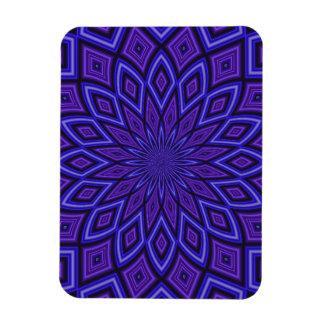 Purple Awareness kaleidoscope Vinyl Magnet