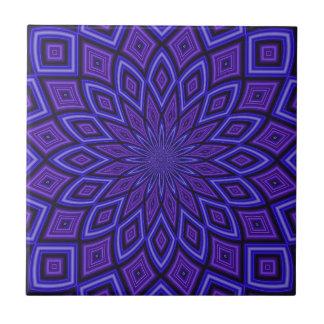 Purple Awareness Kaleidoscope Small Square Tile