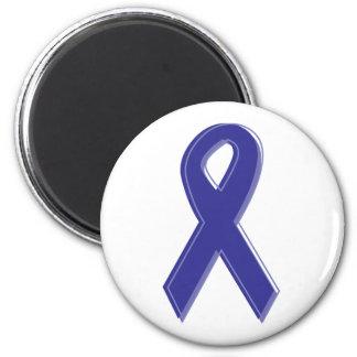 Purple Awareness Ribbon 2 Inch Round Magnet