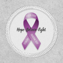 Purple Awareness Ribbon Add Your Custom Text Patch