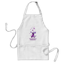 Purple Awareness Ribbon: Alzheimer's Disease Adult Apron