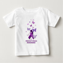 Purple Awareness Ribbon: Alzheimer's Disease Baby T-Shirt