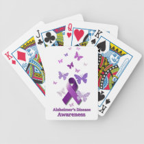 Purple Awareness Ribbon: Alzheimer's Disease Bicycle Playing Cards