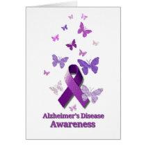 Purple Awareness Ribbon: Alzheimer's Disease Card
