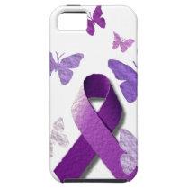 Purple Awareness Ribbon: Alzheimer's Disease iPhone SE/5/5s Case