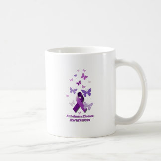 Purple Awareness Ribbon: Alzheimer's Disease Coffee Mug