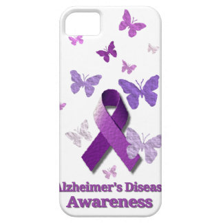 Purple Awareness Ribbon: Alzheimer's Disease iPhone SE/5/5s Case