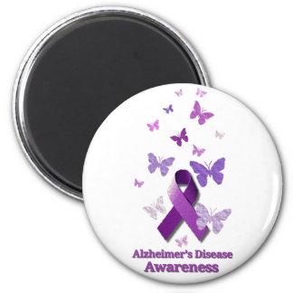 Purple Awareness Ribbon: Alzheimer's Disease Magnet