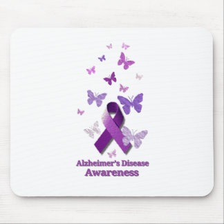 Purple Awareness Ribbon: Alzheimer's Disease Mouse Pad