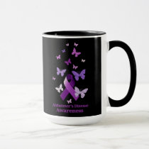 Purple Awareness Ribbon: Alzheimer's Disease Mug