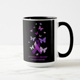 Purple Awareness Ribbon: Alzheimer's Disease Mug