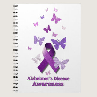Purple Awareness Ribbon: Alzheimer's Disease Notebook