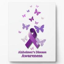 Purple Awareness Ribbon: Alzheimer's Disease Plaque