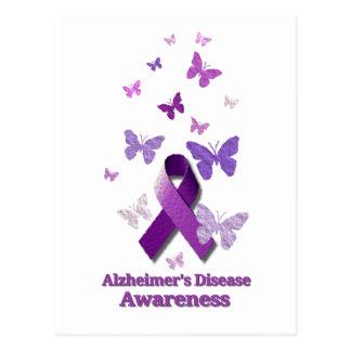 Purple Awareness Ribbon: Alzheimer's Disease Postcard