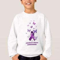 Purple Awareness Ribbon: Alzheimer's Disease Sweatshirt